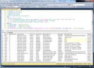 "A sample output of the JDE Scheduler ""Super Query"""